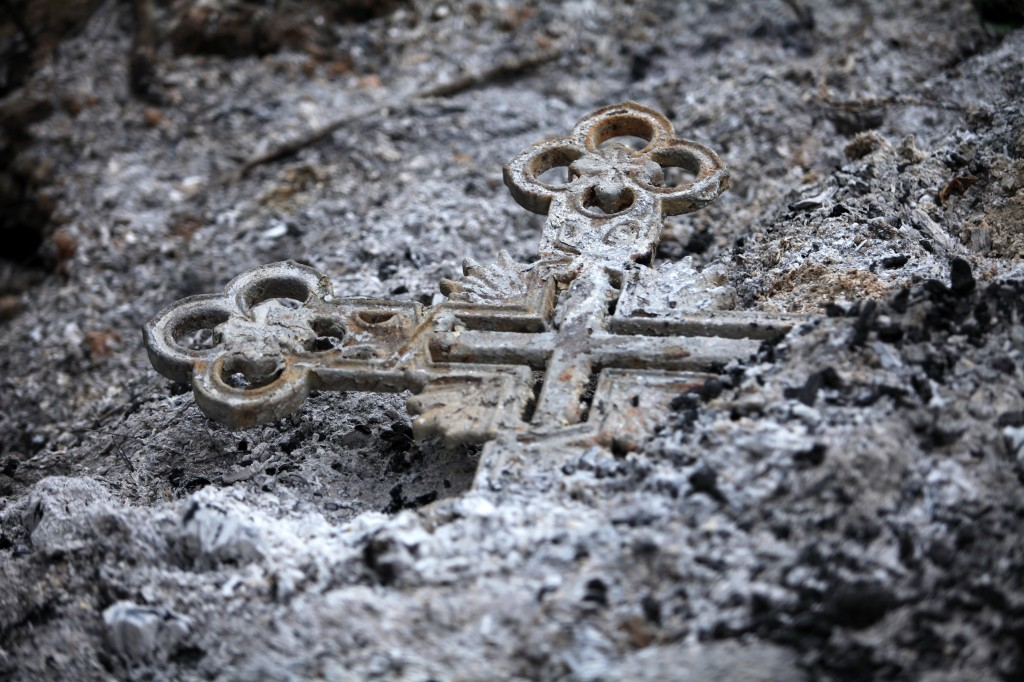 Burned cross