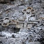 Burned cross