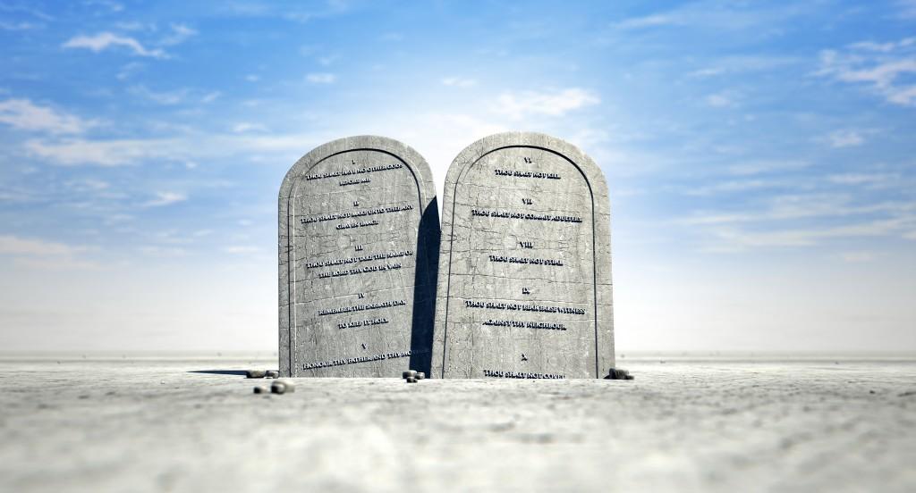 Ten Commandments Standing In The Desert