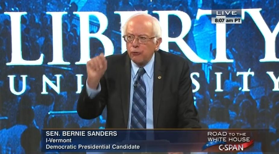 Bernie Sanders at Liberty