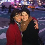 Susan and her daughter Annie, shopping in NYC