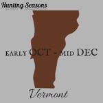 VT hunting season