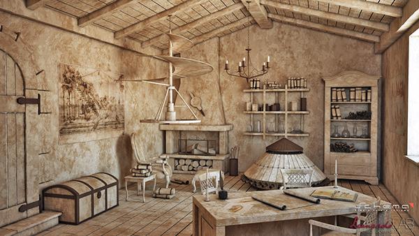Leonardo's studio