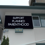 FFRF's marquee at Freethought Hall. Photo by Lauryn Seering