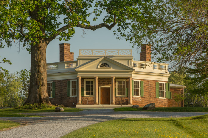 A salon on religious freedom in thomas jefferson s dining room for Poplar forest floor plan