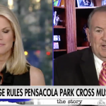On Fox News, Huckabee bungles the Constitution and Pensacola Cross