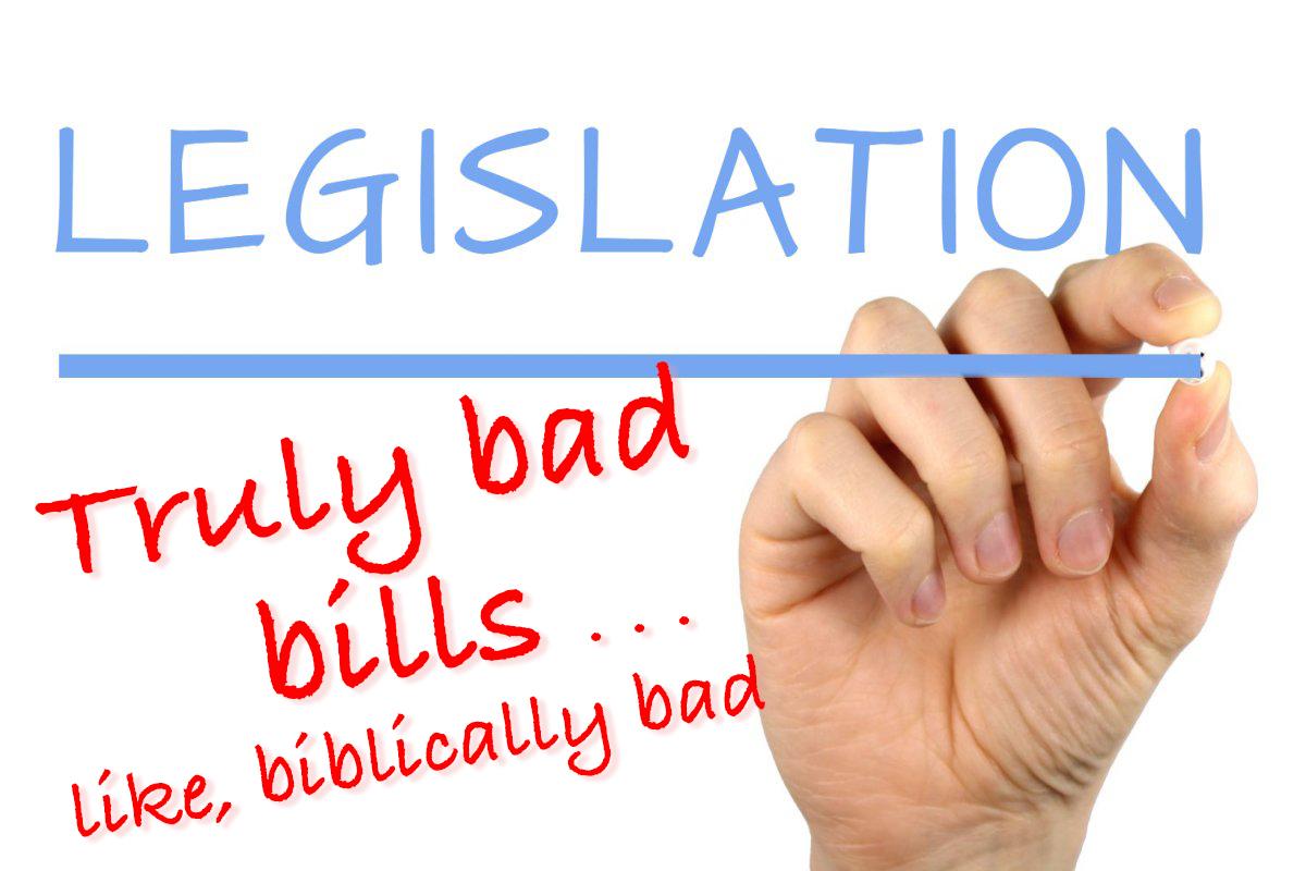 Biblically bad bills. Original photo: Alpha Stock Images