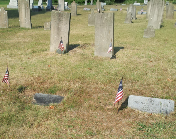 World War II and Revolutionary War veterans at rest side by side