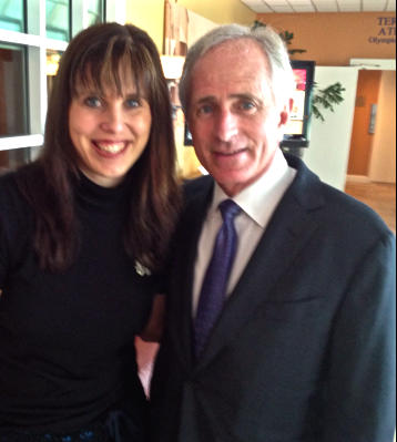 I was meeting an EFM reader when Sen. Bob Corker walked by!