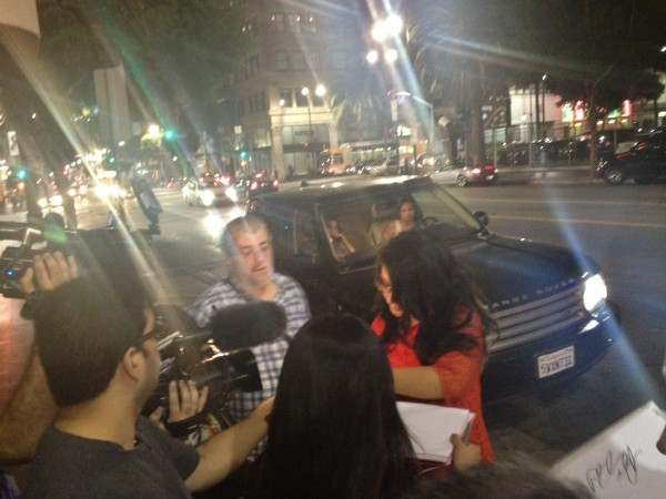 After the elimination night, Bristol invited us to go to a party celebrating the release of Just Dance 4.  So, we piled in the SUV and went!  (The press noticed her arrival.)