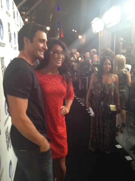 Gilles Marini and Bristol pose on the red carpet!