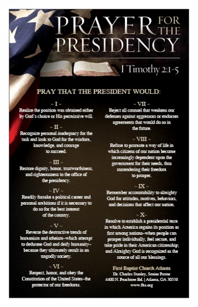 Prayer for the Presidency - FBA