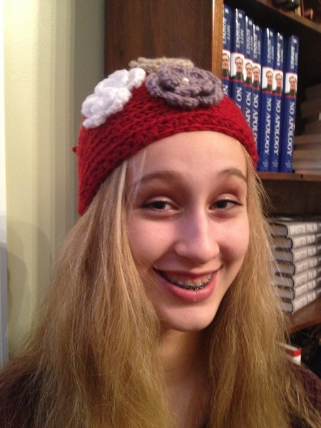 The girls got these awesome knitted hats!  One thing's for sure, Alaskans know how to keep warm in style.