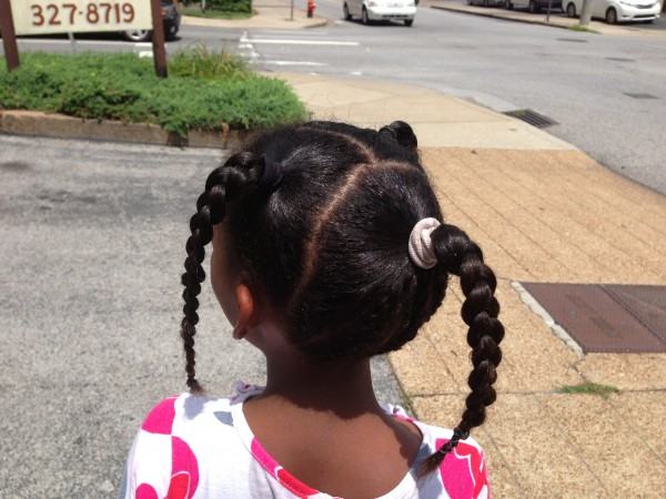 "The end result -- some braids that will accommodate swimming -- pleased Naomi so much she said, ""When can we come back?"""