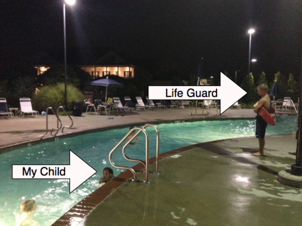 Naomi was swimming happily under the watchful gaze of a lifeguard, her mother, and another adult when a woman approached her and demanded she justify her presence in the neighborhood pool.
