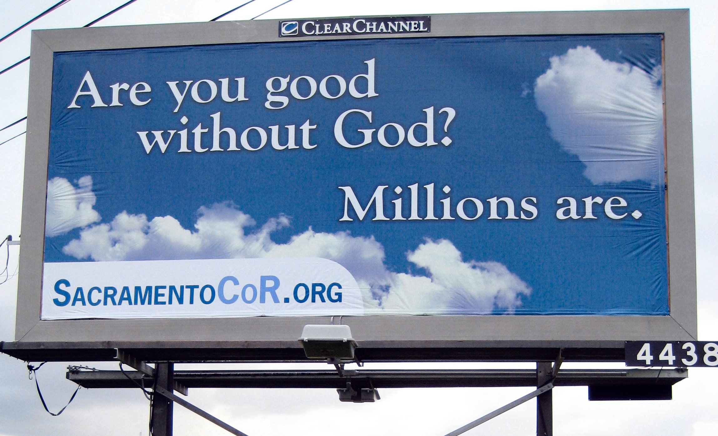 More Atheist Billboard Vandalization