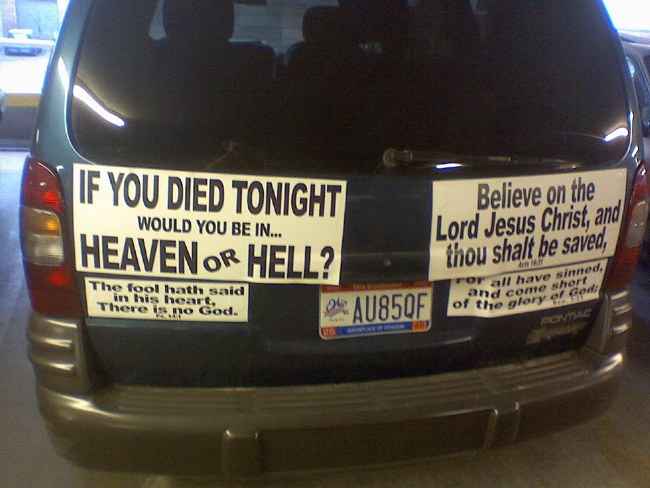 What S It Like To Have An Atheist Car Friendly Atheist