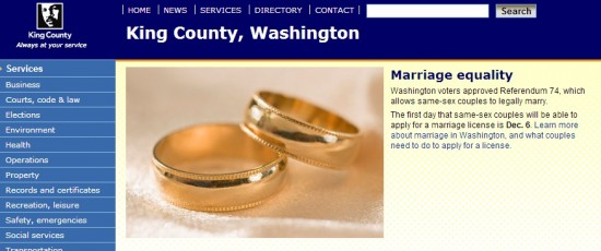 king county marriage equality