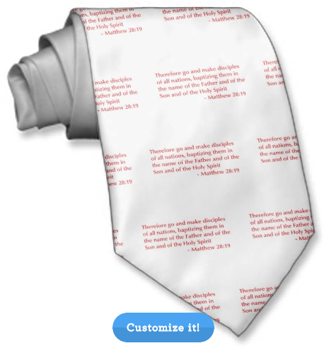 A tie with Bible verses (via Zazzle)