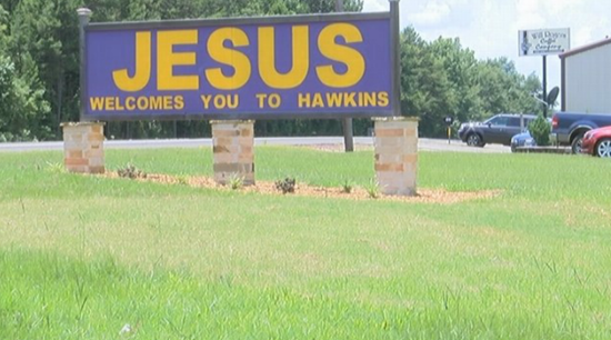 """The (Untold) Story of the """"JESUS Welcomes You to Hawkins"""" Sign in Texas"""