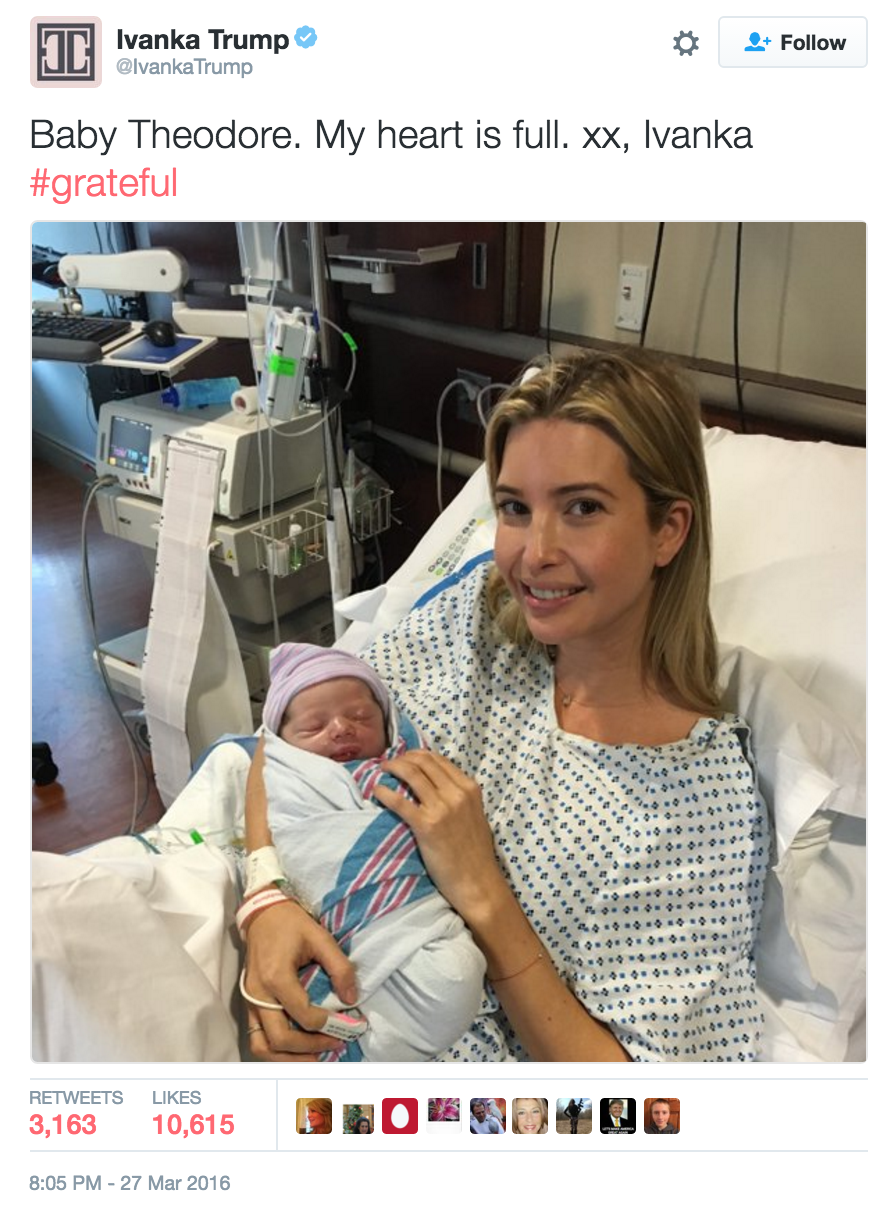 "Donald Trump Congratulates Jewish Daughter on Her ""Easter Baby"""