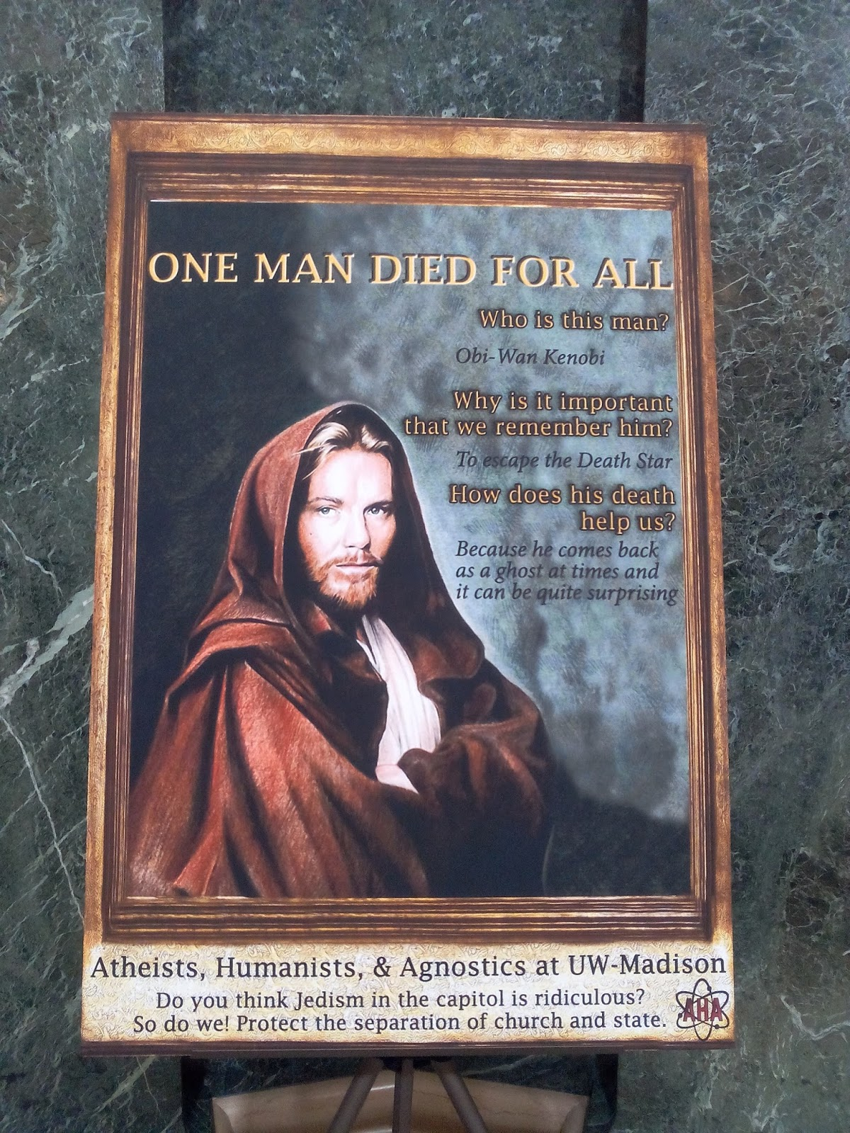 For Easter, There's a Display Honoring Obi-Wan Kenobi in the Wisconsin State Capitol