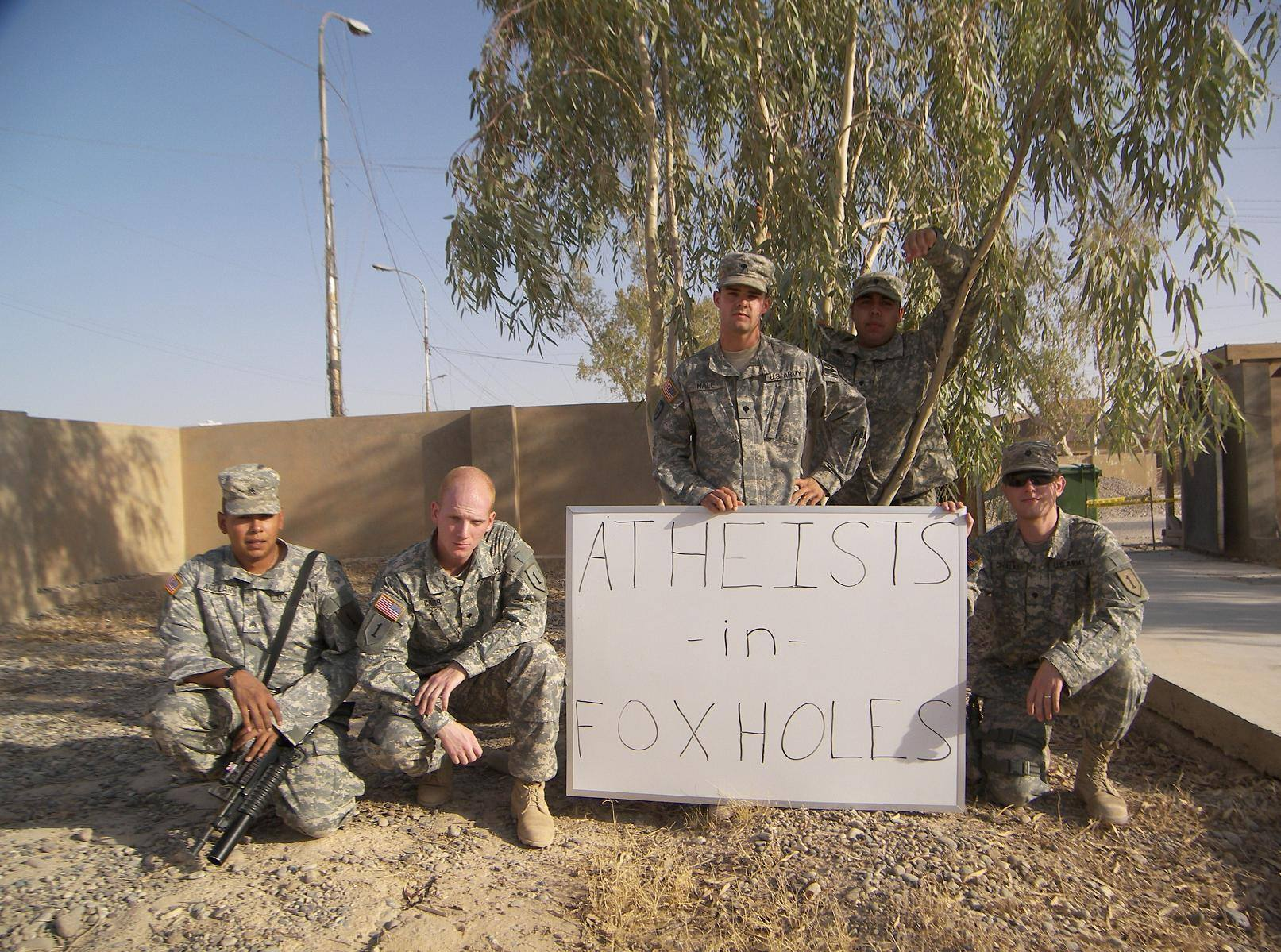 no atheists in foxholes essay No atheists in foxholes - an ignorant statement i would like to take a look at what is generally meant when someone says there are no atheists in foxholes.
