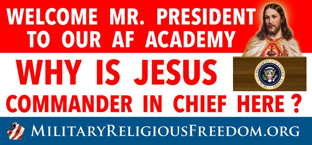 "Sarcastic Billboard Asking Why Jesus Rules the Air Force Academy Rejected for Being ""Not Factual"""