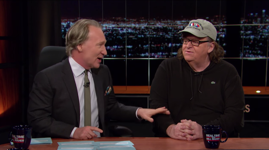 Bill Maher and Michael Moore Share Their Dream of an All-Atheist Comedy Tour Through the Bible Belt