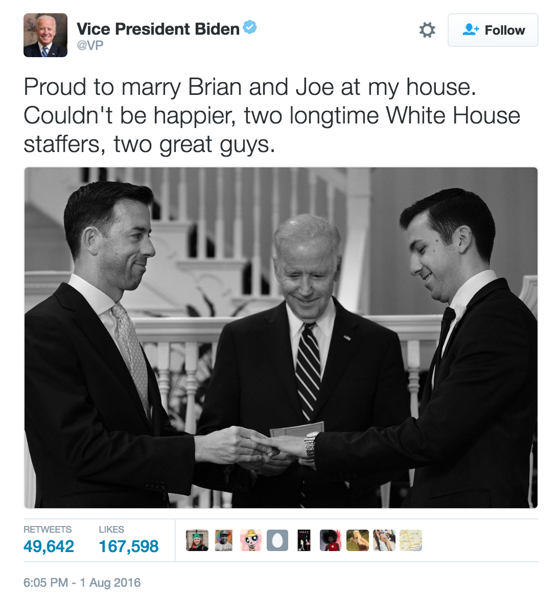 BidenWeddingTweet