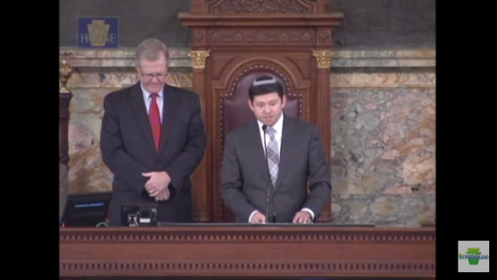 A rabbi delivers a PA House invocation in 2013