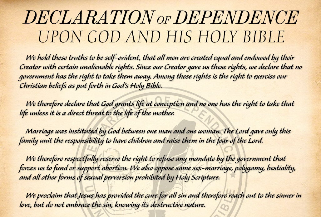 """Christian Leaders Promote Civil Disobedience Against Laws Allowing Abortion and """"Sexual Perversion"""""""