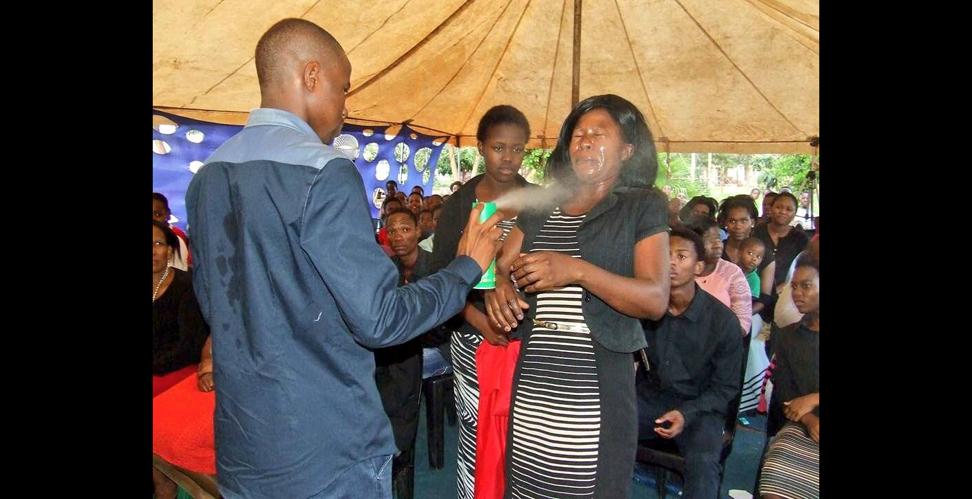 "South African Pastor (Allegedly) Sprays Insect Repellent on Followers to ""Heal"" Them"