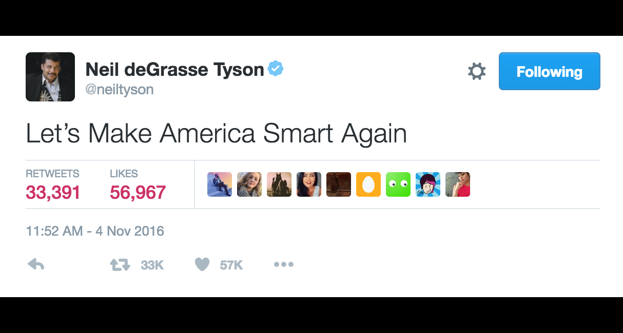 Neil deGrasse Tyson Suggests a More Inspiring Campaign Slogan