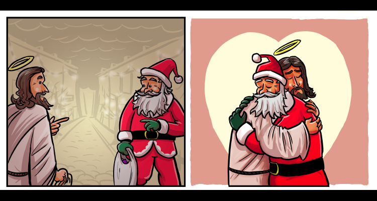 this is what jesus and santa would say to each other friendly atheist - Santa With Jesus
