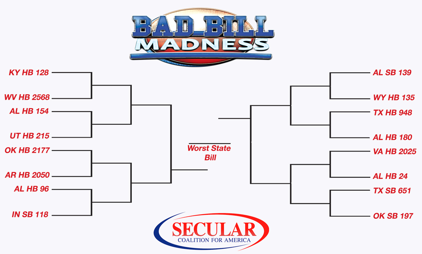 Bad Bill Madness Bracket