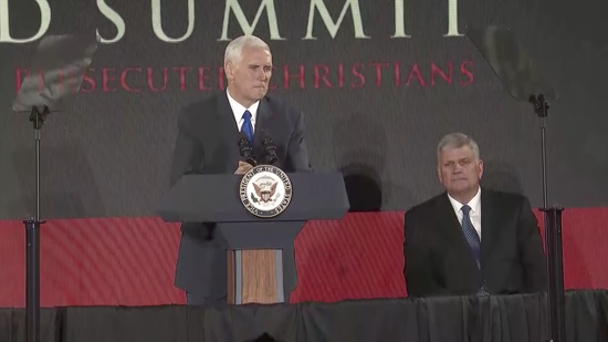 """VP Mike Pence: Christians Face """"Greater Hostility or Hatred"""" Than Any Other Faith"""