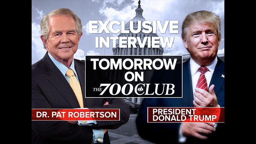 President Trump Talks To Pat Robertson About Obamacare, Russia, And Hillary Clinton
