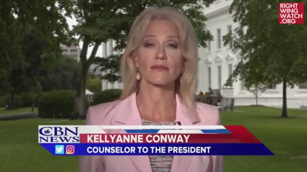 Kellyanne Conway overheats on Hurricane Harvey climate change