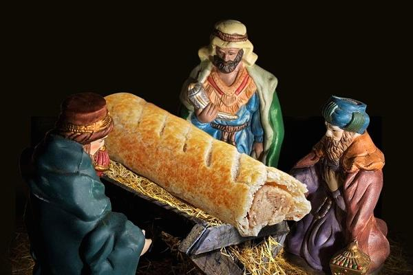 Bakery apologises after replacing baby Jesus with a sausage roll