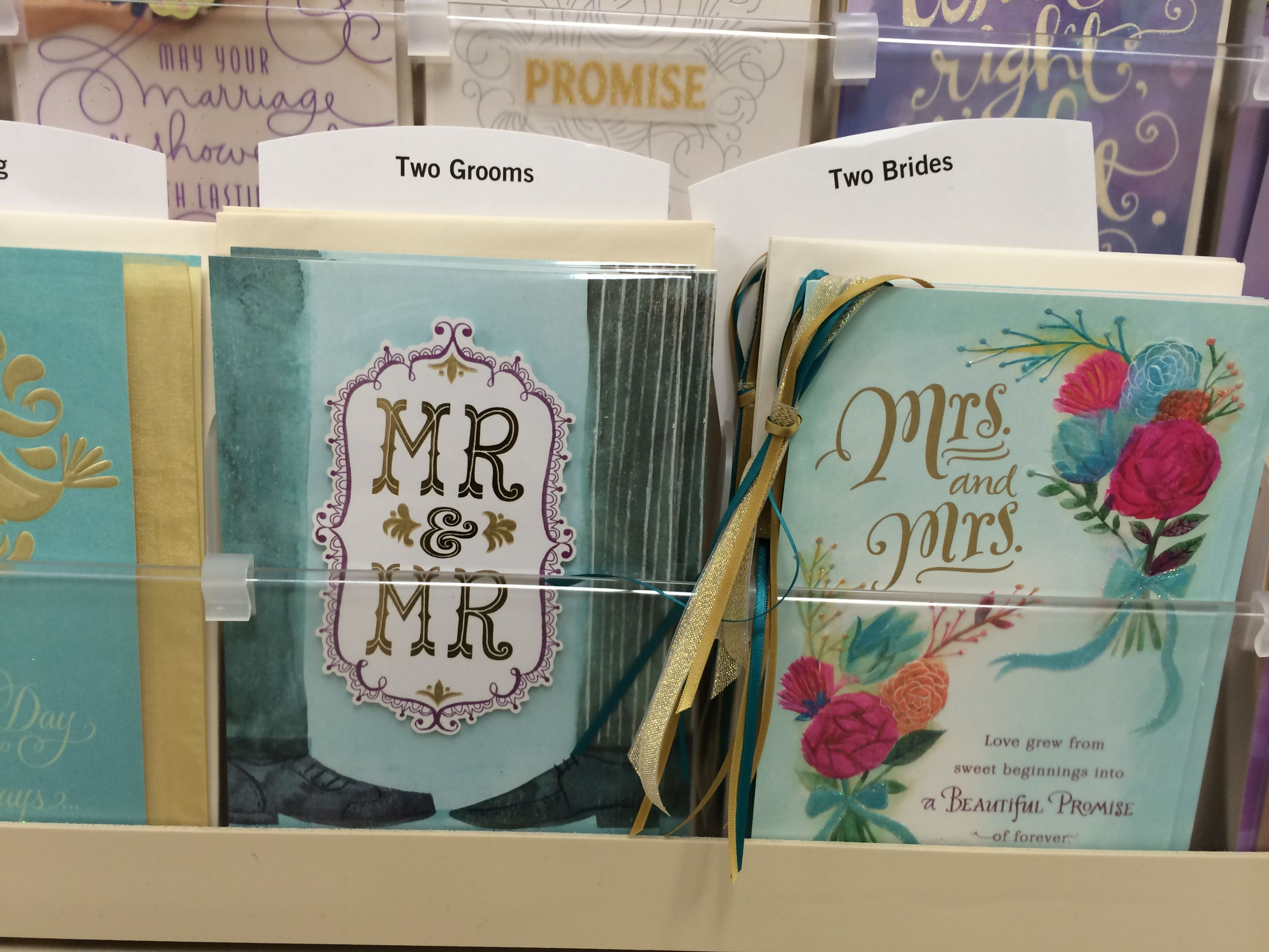 Brigham young university bookstore accidentally stocks greeting brigham young university bookstore accidentally stocks greeting cards celebrating same sex weddings kristyandbryce Choice Image
