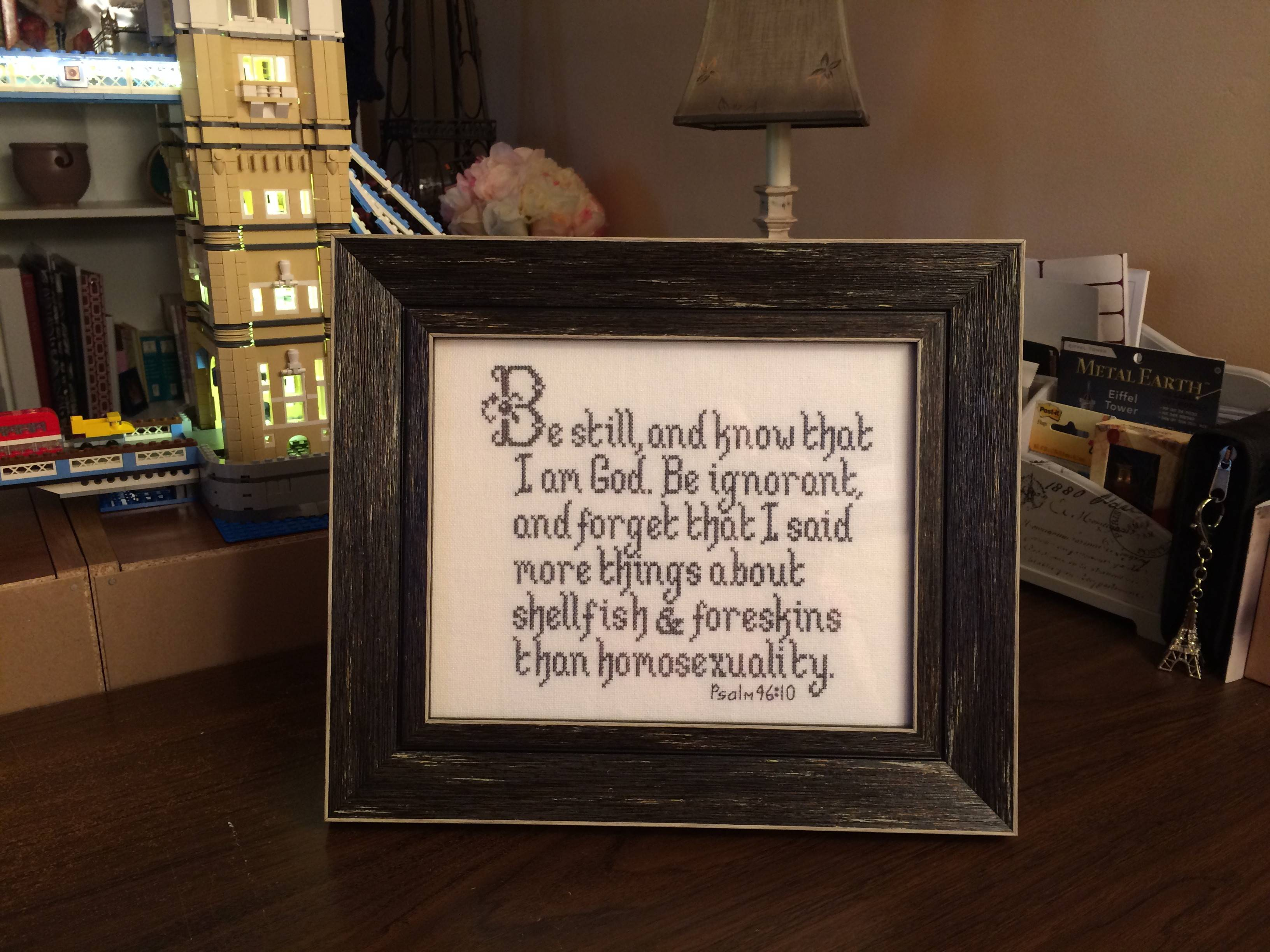You Can Now Bid on This Hilarious Not-So-Biblical Cross Stitch ...