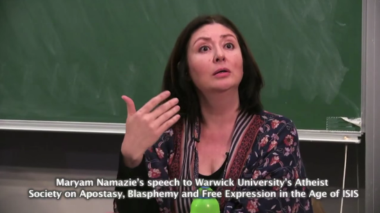 """Activist Maryam Namazie Heckled at Talk by Muslim Students Who Say She Invaded Their """"Safe Space"""""""