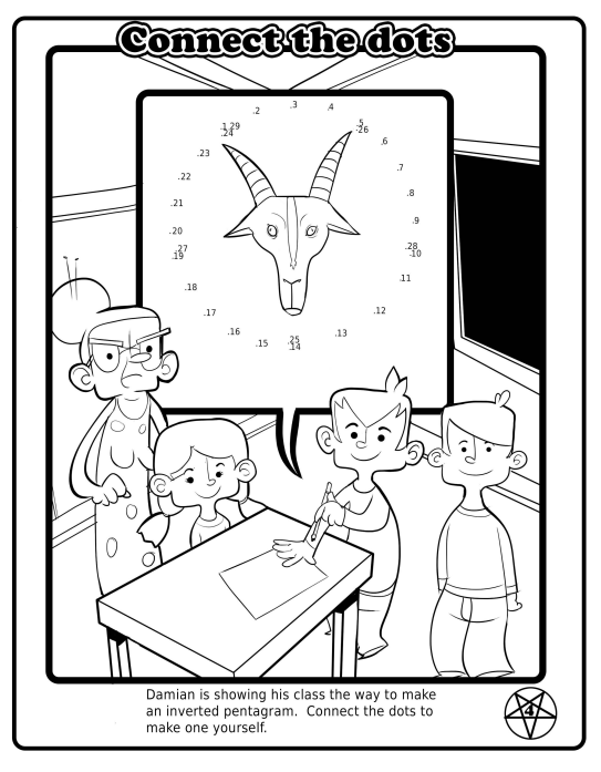 This is the Satanic Coloring Book That Will Be Available for
