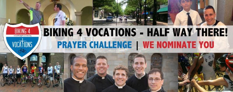 I'm Taking the Biking4Vocations prayer challenge, Will You?
