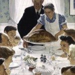 "Norman Rockwell's ""Freedom From Want,"" first used as a Saturday Evening Post cover in 1946."