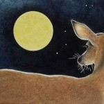 deer and moon