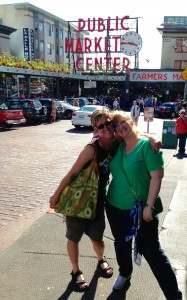 My baby sis and I at Pike's Place Market during my last visit.