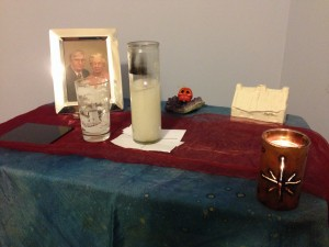Altar for my own Decluttering for the Samhain Soul working.