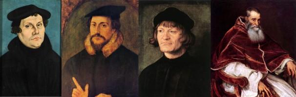 Luther, Calvin, Zwingli, & Pope Paul III